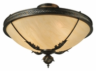 Meyda Tiffany 132431 Hoja Semi Flush 30 Inch Diameter Traditional Overhead Lighting