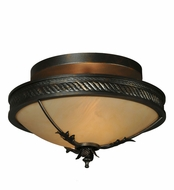 Meyda Tiffany 132432 Hoja 15 Inch Diameter Classic Ceiling Lighting Fixture