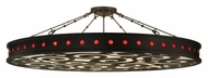 Meyda Tiffany 121791 Jules 72 Inch Diameter Semi Flush Contemporary Ceiling Light
