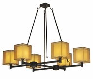 Meyda Tiffany 129378 Horizon Bay Contemporary 6 Light Bronze Chandelier Light Fixture