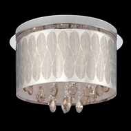 Lite Source LSEL-50066 Giustina Halogen Flush Mount Laser Etched Leaf Pattern Ceiling Lighting