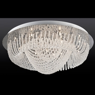 Lite Source LSEL-50085 Orella Crystal Triple Diamond Strand Halogen Flush Mount Lighting