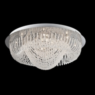 Lite Source LSEL-50086 Orella Flush Mount 29 Inch Diameter Triple Diamond Strand Ceiling Light Fixture