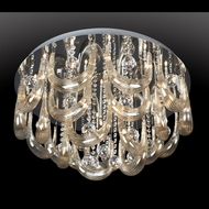 Lite Source LSEL-50090 Pasquale Round Flush Mount Halogen Ceiling Light