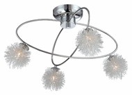 Lite Source LS5444 Hallan Contemporary 19 Inch Diameter Small 4 Light Wire Ball Ceiling Light
