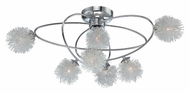 Lite Source LS5447 Hallan Chrome Wire Ball Large Ceiling Light Fixture - 29 Inch Diameter