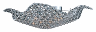 ET2 E24272-20PC Wave Flush Mount 15 Inch Diameter Crystal Ceiling Lighting Fixture