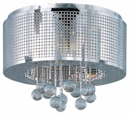 ET2 E24380-91PC Illusion Polished Chrome 5 Light Flush Mount Ceiling Light Fixture