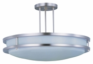 Maxim 85548WTSN Linear EE Fluorescent Semi Flush Satin Nickel 17 Inch Diameter Ceiling Light