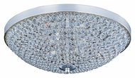 Maxim 39871BCPS Glimmer Small Crystal 15 Inch Diameter Flush Mount Overhead Lighting - Plated Silver