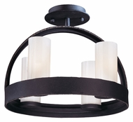 Troy C2800 Eclipse Modern 4 Lamp Semi Flush Ceiling Light Fixture With Federal Bronze Finish