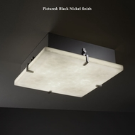Justice Design CLD-5557 Clips Cloud Glass Fluorescent 16 Inch Square Large Flush Lighting