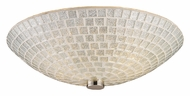 ELK 10139/2SLV Fusion Semi Flush 2 Lamp Satin Nickel Ceiling Light With Silver Mosaic Glass