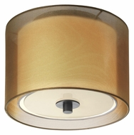 Sonneman 6011.51F Puri Bronze Organza Shade Fluorescent 10 Inch Diameter Flush Lighting Fixture