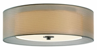 Sonneman 6013.13F Puri Silver Organza Shade Small Fluorescent 16 Inch Diameter Flush Lighting