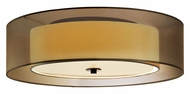 Sonneman 6014.51F Puri Flush Mount 22 Inch Diameter Large Black Brass Overhead Lighting