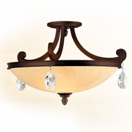 Corbett 86-33 Roma Semi Flush Mount Traditional Bronze Overhead Lighting