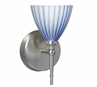 Mia Wall Lamp with Blue Swirl Glass