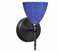 Mia Wall Lamp with Blue Cloud Glass