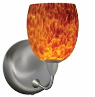 Mimi Wall Lamp with Amber Cloud Glass