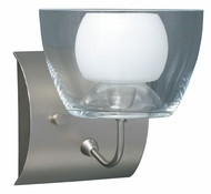 Lexi Glass Wall Sconce in Satin Nickel