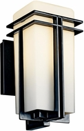 Kichler 49200BKFL Tremillo Art Deco Fluorescent Outdoor Wall Fixture - Small (12 )