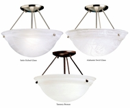 Kichler 3718 Cove Molding Top Glass Transitional Glass Bowl Diffuser 13 Inch Diameter Overhead Light Fixture