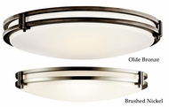 Kichler 10827 Small Flush Mount Nickel or Bronze Modern Ceiling Light Fixture