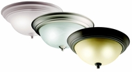Kichler 10836 Small Flush Mount 13 Inch Diameter Fluorescent Traditional Ceiling Light
