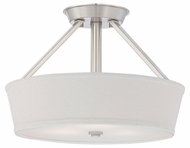 Quoizel WV1716BN Waverly Medium 16 Inch Diameter Semi Flush Ceiling Mounted Lighting