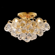 Elegant 2001F12G-RC Godiva 7  Semi Flush Mount Gold Home Ceiling Lighting