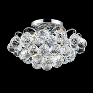 Elegant 2001F12C-RC Godiva Chrome Semi Flush Crystal Overhead Light Fixture
