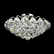 Elegant 2001F14C-RC Godiva 4 Light Crystal Small Chrome Overhead Lighting