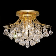 Elegant 8000F19G-RC Toureg Large Crystal Indoor Ceiling Light with Gold Finish