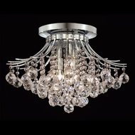 Elegant 8000F19C-RC Toureg Crystal Large Traditional Ceiling Light Fixture - Chrome