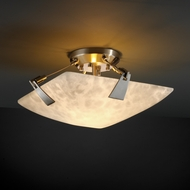 Justice Design 9630 Tapered Clips Semi-flush 14 Round or Square Bowl Ceiling Light with Multiple Glass Options