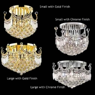 Worldwide 33021 Worldwide 6-light Crystal Style Semi-Flush Ceiling Light