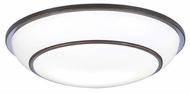 PLC 1952-ORB Delano Fluorescent Ceiling Light in Oil Rubbed Bronze