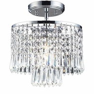 ELK 1991-1 Optix 1-Light Crystal Flush-Mount Ceiling Fixture