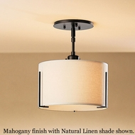 Hubbardton Forge 12-6498 Exos Single Shade Small Semi-Flush Ceiling Light