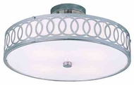 Trans Globe MDN905 Contemporary Collection V Modern Style Semi-Flush Ceiling Light