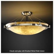Justice Design 9682 Ring 24  Round Contemporary Semi-Flush Ceiling Light