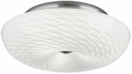 Philips F6064-36 Inhale Contemporary Satin Nickel Flushmount - 16 inches wide