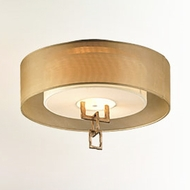 Troy C2870 Link Modern 2-light Chain Link Flush Mount Ceiling Light