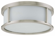 Nuvo 603813 Odeon ES 17  Ceiling Lamp in Brushed Nickel