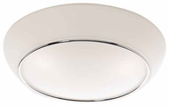 Artcraft AC2150 Arcraft Small Contemporary Flush-Mount Ceiling Light with Chrome