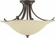 Feiss SF214-GBZ Morningside 3-light 18 inch Semi Flush Ceiling Light in Grecian Bronze