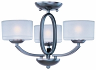 Maxim 19041FTOI Elle Duo-Mount 3-light Oil-Rubbed Bronze Mini Chandelier/Semi-flush Mount Ceiling Light