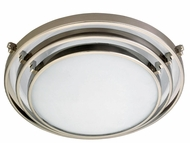 PLC Cascade Halogen Ceiling Light in Satin Nickel