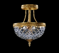 Crystorama 118-10-CH Serene 10 inch crystal semi flush mount in Olde Brass